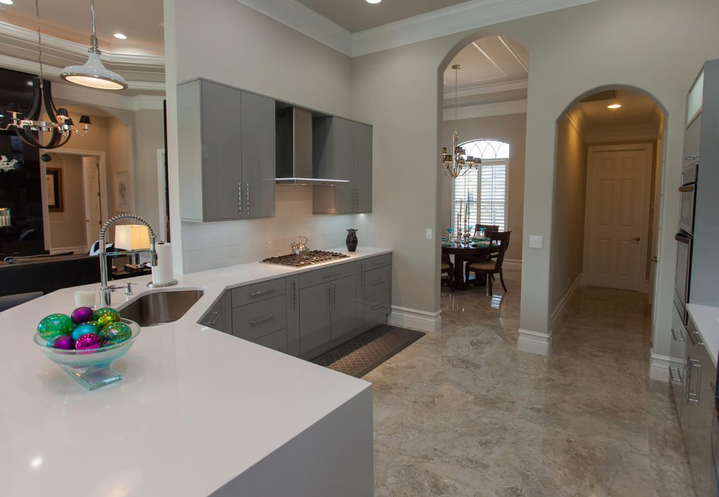 Kitchen Remodel with White Countertops in Bonita Springs, FL
