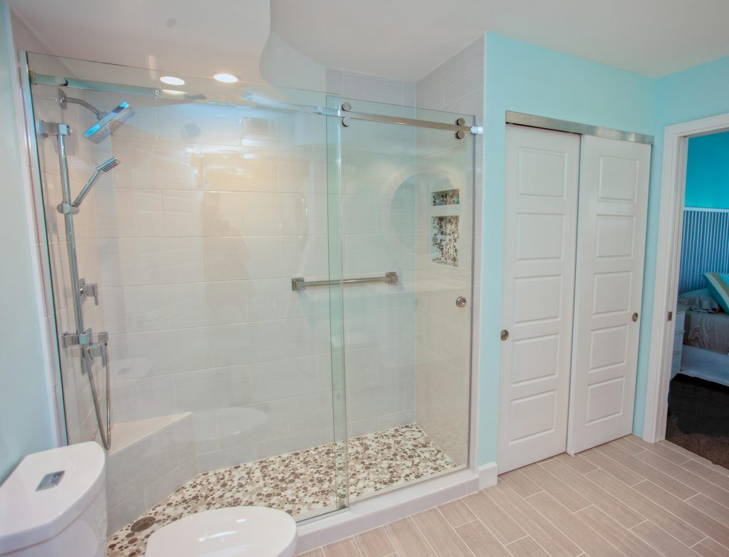 Bathroom Remodel in Fort Myers, FL with Glass Shower Doors