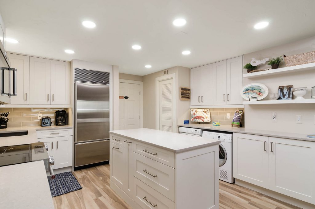 Ocean's Reach Marino FL Kitchen Remodel with Island with Stainless Steel Appliances