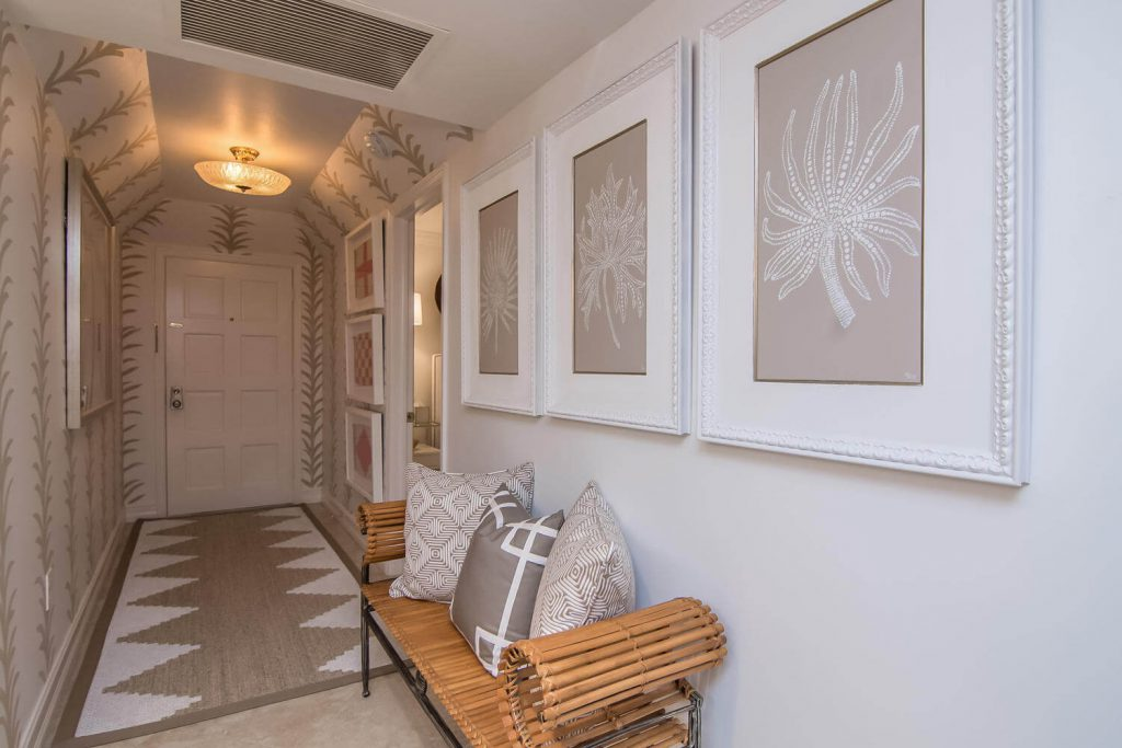 Hallway Remodel with Beach Condo Style in Lion's Gate Tribout FL