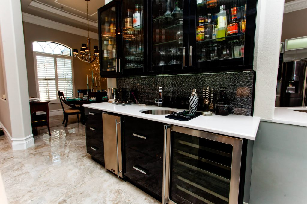 Modern Wet Bar in Bonita Lakes, FL Home