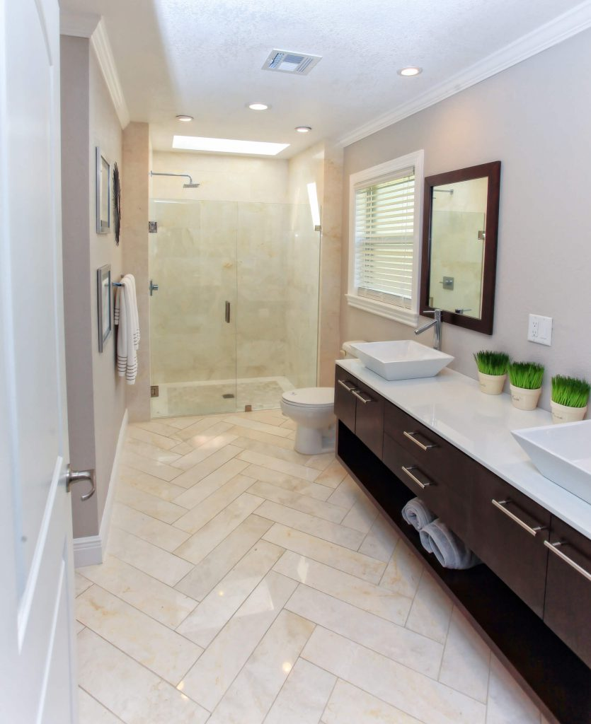 Marble Tile Bathroom Remodel in Cape Coral, FL