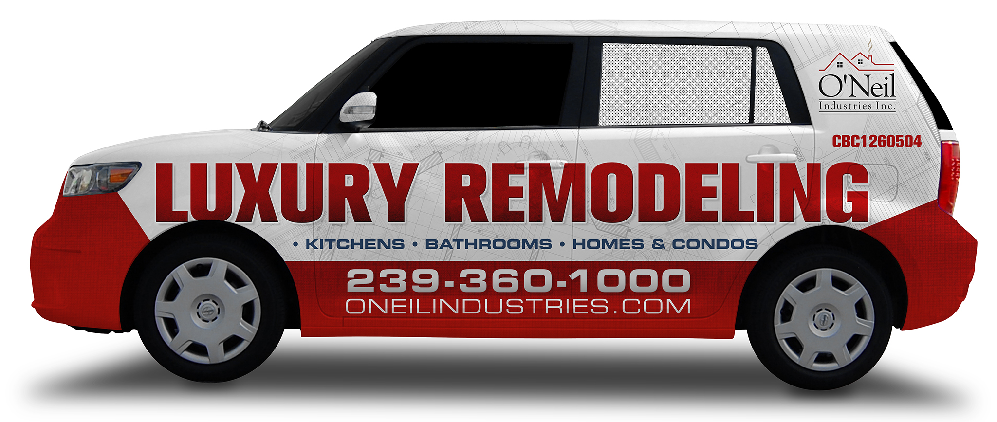 O'Neil Industries Car Wrap for Remodeling Contractor