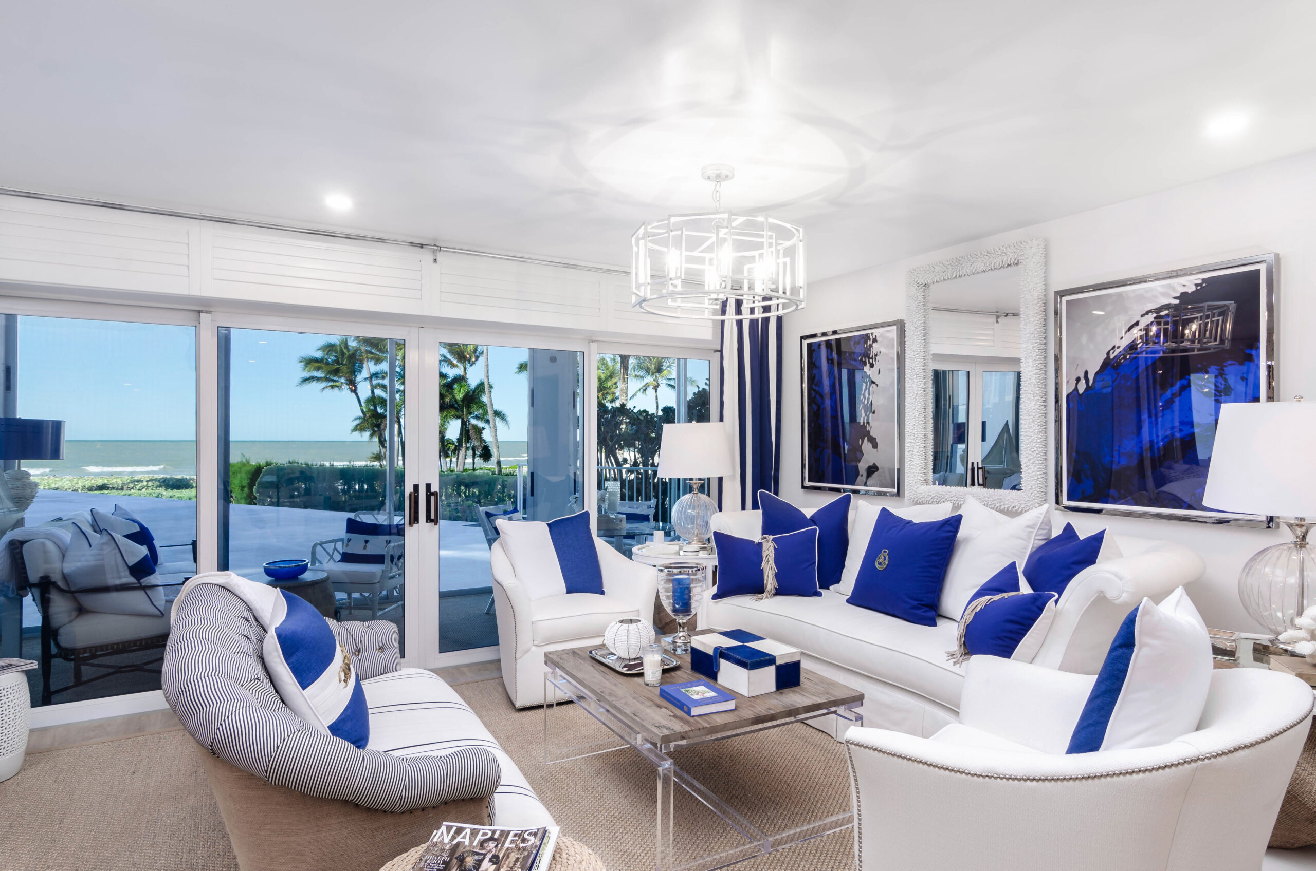 Lions Gate in Naples Condo Remodeling Living Room